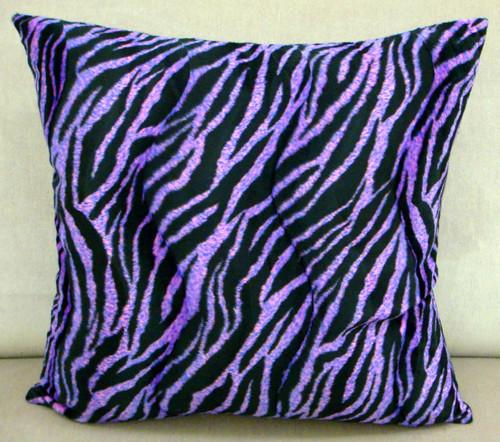 Zebra Print Throw Pillow, Pink & Black Multi
