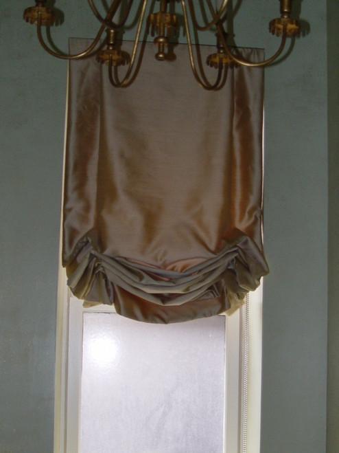 Tailored Balloon Shade, Soft Roman Shade, Silk