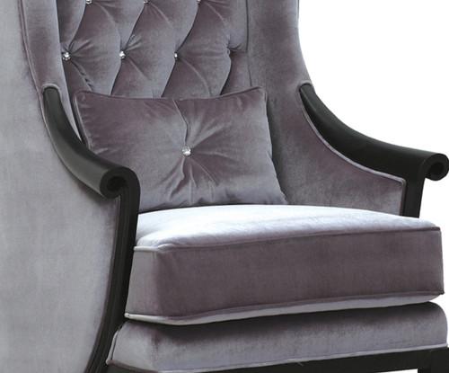 Decorative Throw Pillow, Crystal Chic Bling, Velvet