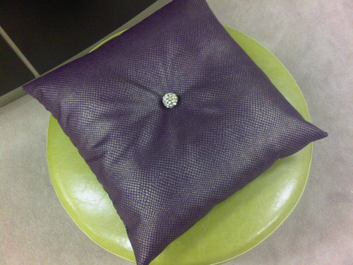 Luxury Throw Pillow, Carnaby Street Bling Purple & Gold