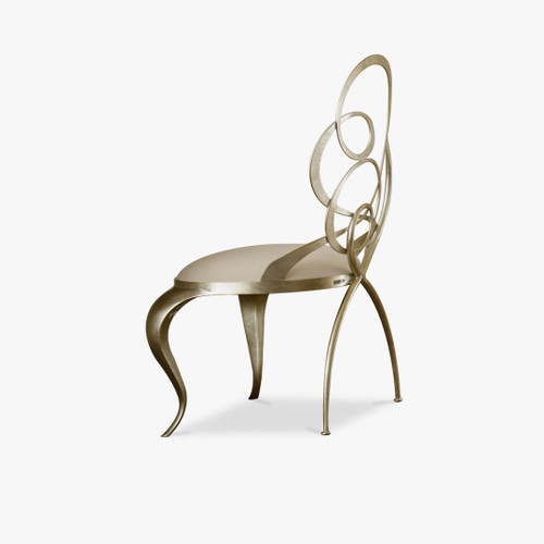 Scrolled Iron Dining Chair