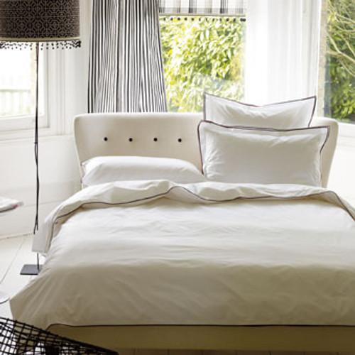 Upholstered Bed, Custom made in Designer Guild Fabric