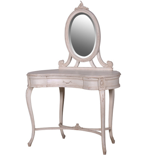 Shabby Chic Vanity Table, Antique Ivory