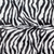 Zebra Print Bling Throw Pillow ....Color Beige/Black,Versace button detail
