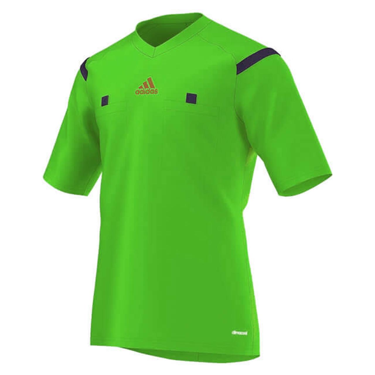 online store 683dd cb21c 2014 Adidas Referee Jersey Short Sleeve (Green)
