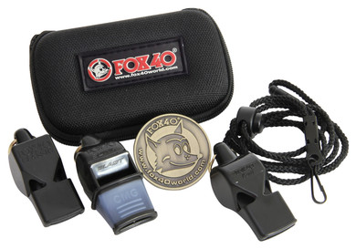 Fox 40 Whistles 3-Pack and Coin