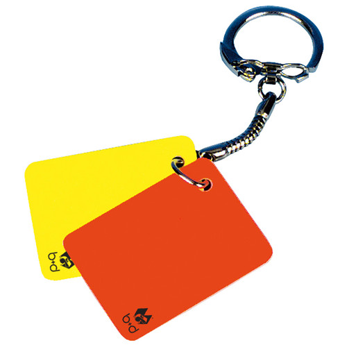 Yellow and Red Card Keyring