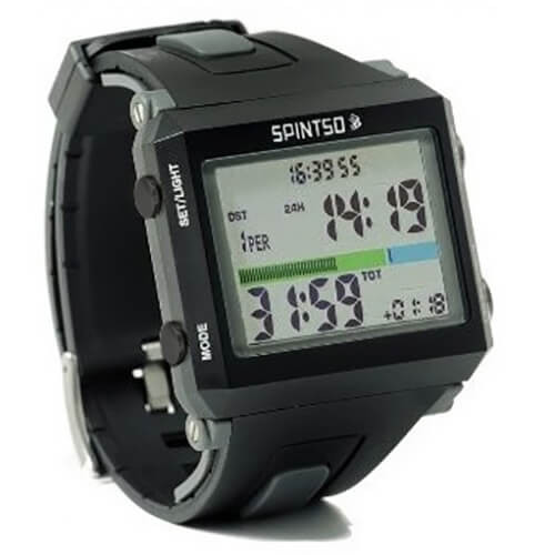 Spintso Referee Watch Pro in gray color, angle view
