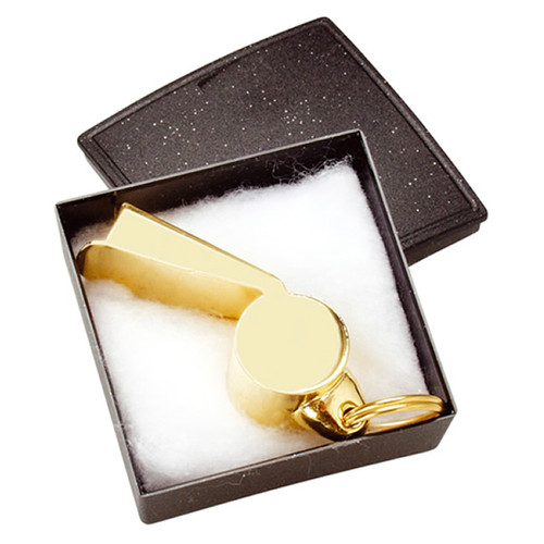 "Commemorative Gold ""Mundial"" Metal Whistle"