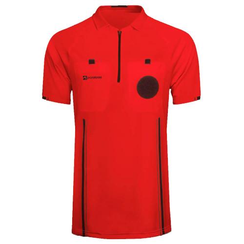 Soccer Referee Jersey Short Sleeve (Red)