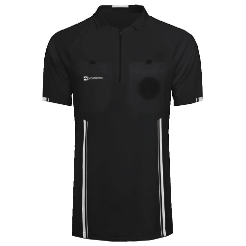 Soccer Referee Jersey Short Sleeve (Black)