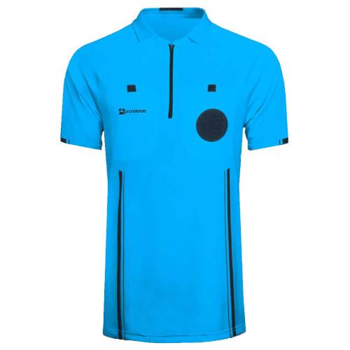 Soccer Referee Jersey Short Sleeve (Blue)