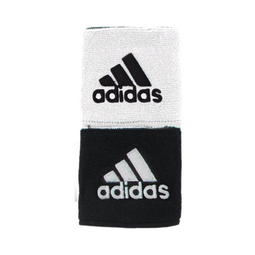 Adidas Interval Reversible Wristbands (Black/White Pair)
