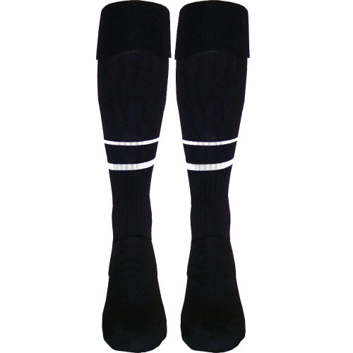 Two-Stripe Match-Elite Soccer Referee Socks