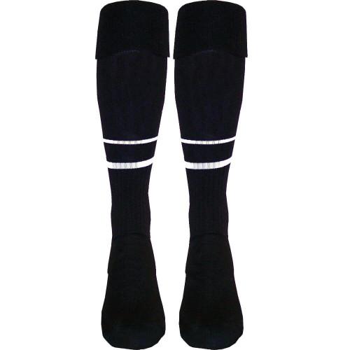 Two-Stripe Match-Elite Soccer Referee Socks