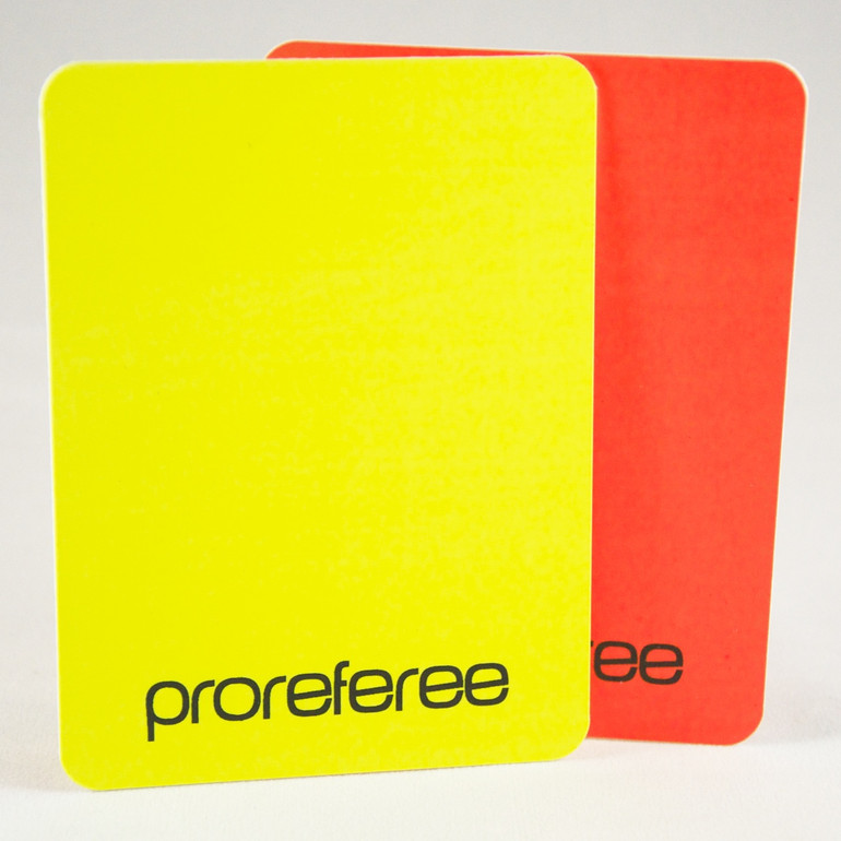 Disciplinary Yellow and Red Card Set