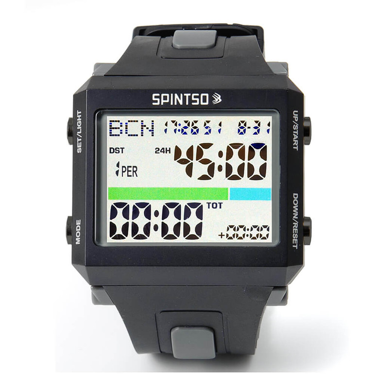 Spintso Referee Watch Pro in gray color, head-on view