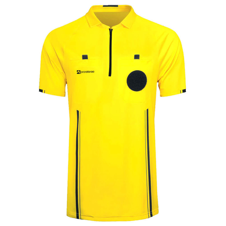 Soccer Referee Jersey Short Sleeve (Yellow)