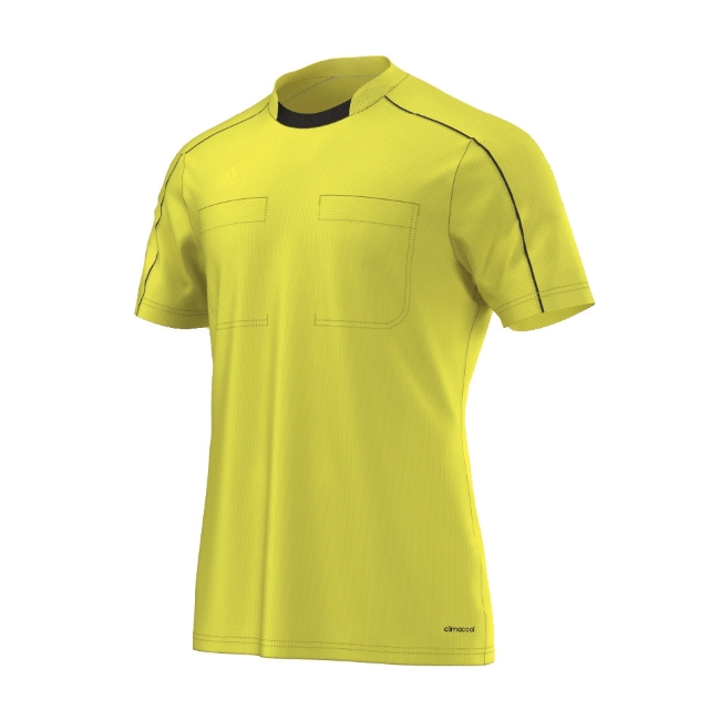 2016 Adidas Referee Jersey Short Sleeve (Shock Yellow) fca91a495