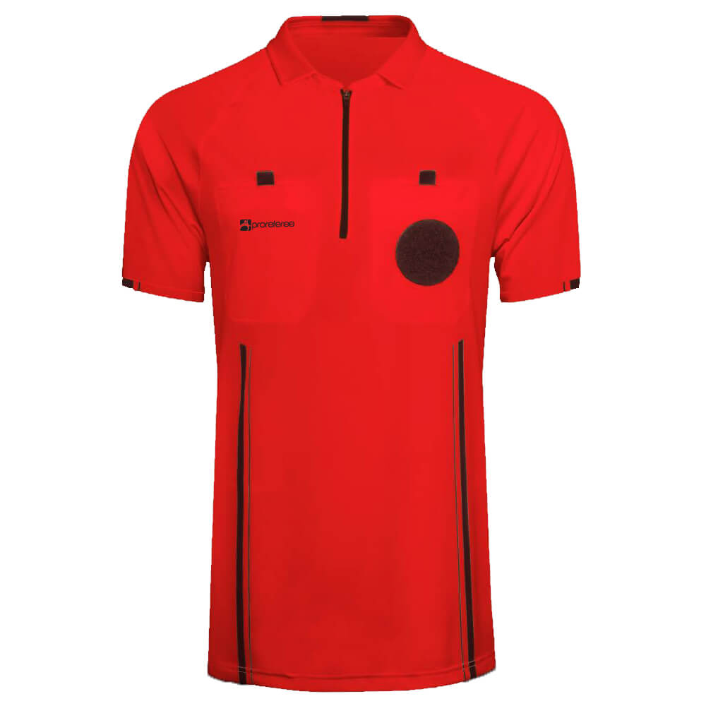 6c5db311c ProReferee Soccer Referee Jersey Short Sleeve (Red)