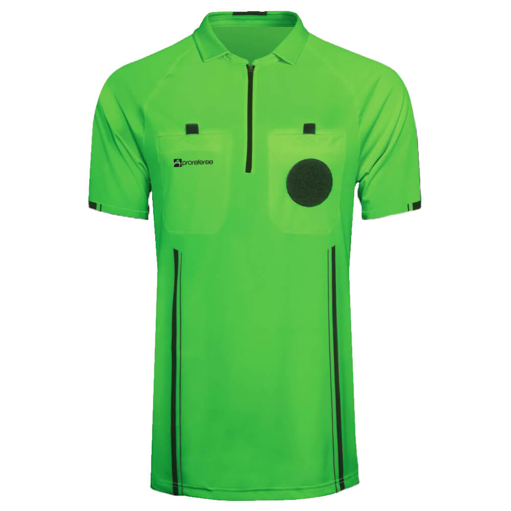 fe232015618 ProReferee Soccer Referee Jersey Short Sleeve (Green)