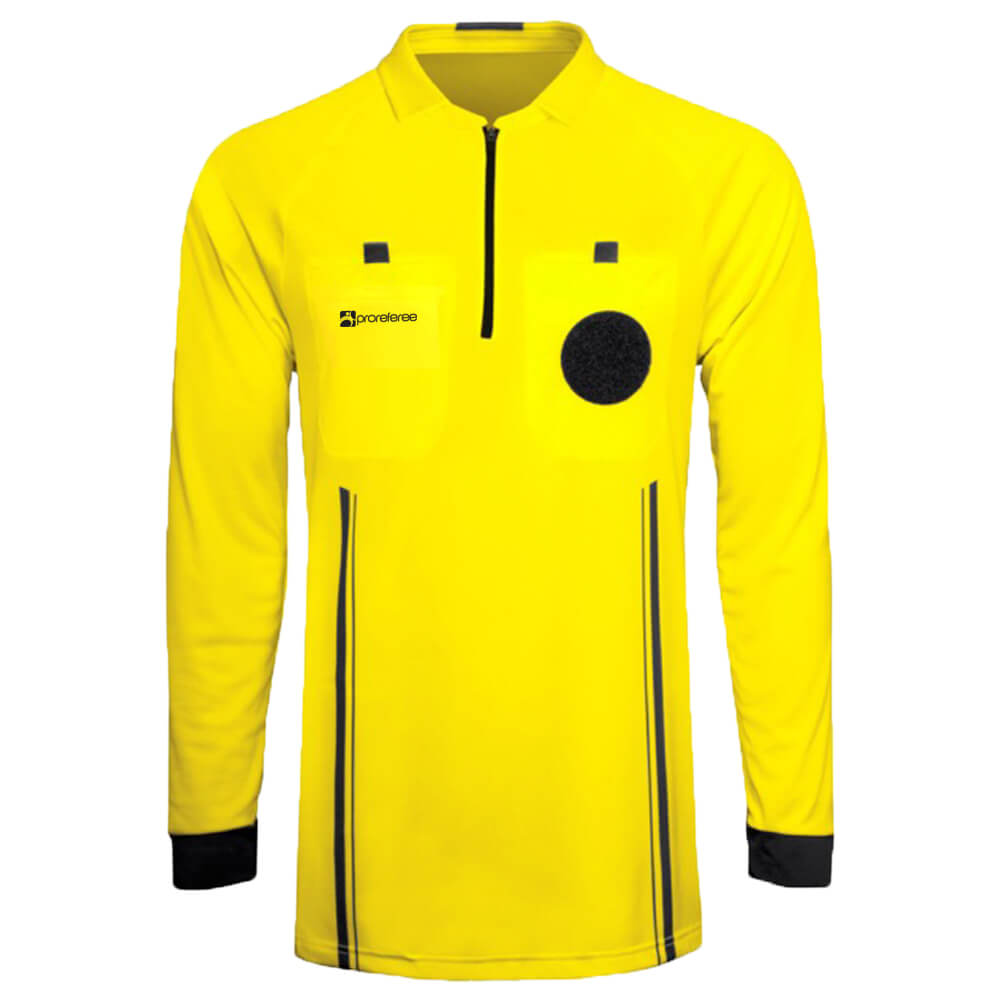 8f5231ab7bf ProReferee Soccer Referee Jersey Long Sleeve (Yellow)