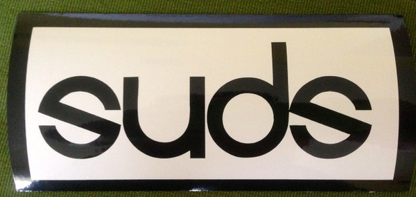 Evolution font with white on reflective black.