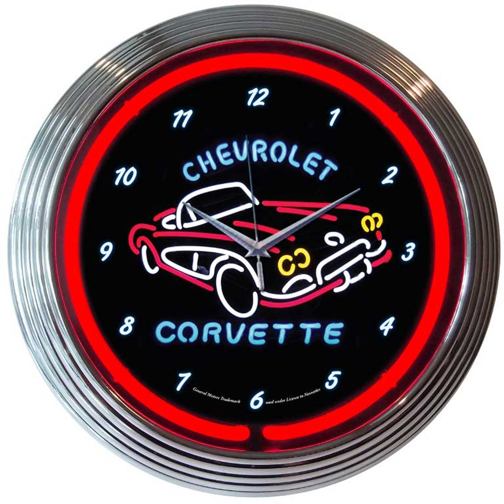 Neonetics Corvette C1 Neon Clock