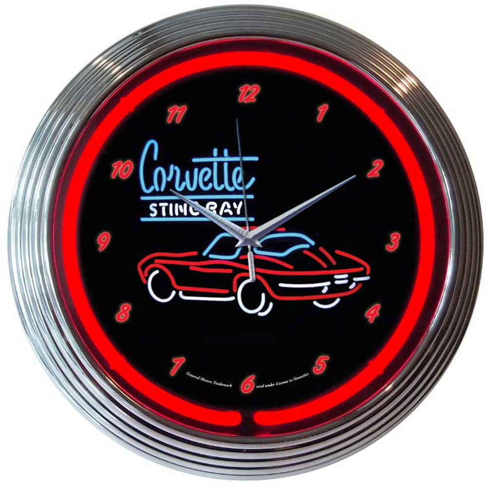 Neonetics Corvette Stingray Neon Clock