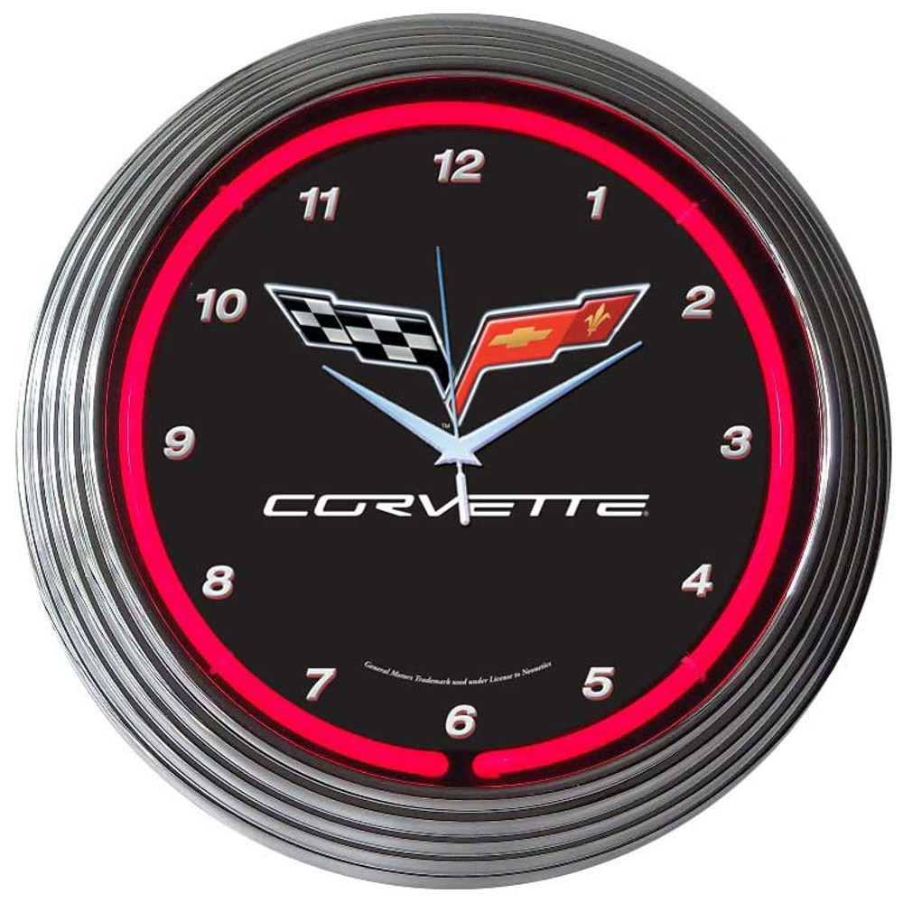 Neonetics Corvette C6 Neon Clock