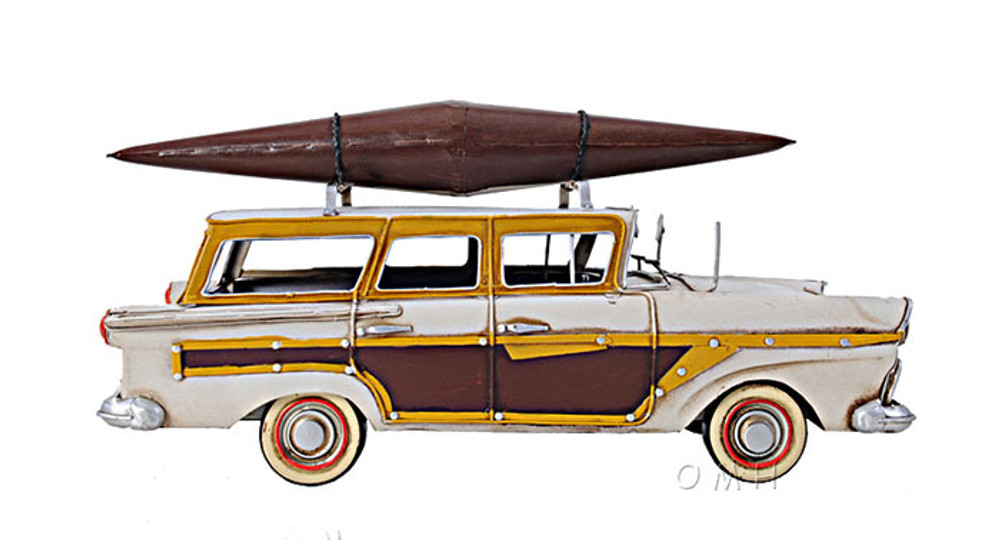 1957 Ford Woody-Look Country Squire w/Kayak