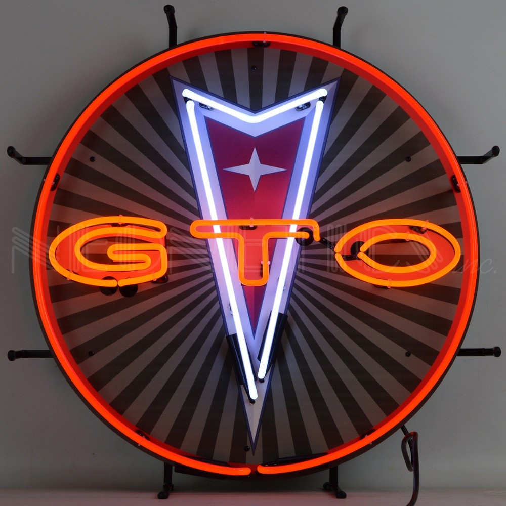 GTO Pontiac Neon Sign with Backing