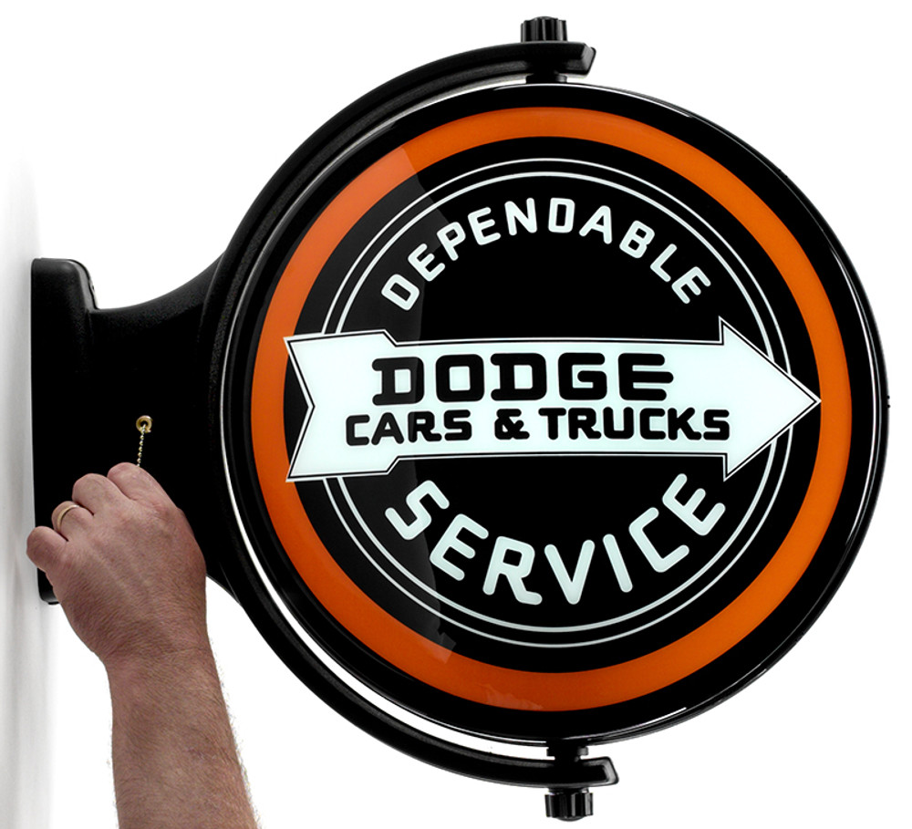 Dodge Dependable Service Revolving Lighted Sign