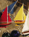 Authentic Models Sunset Sailers, Set of 4 Sailboats