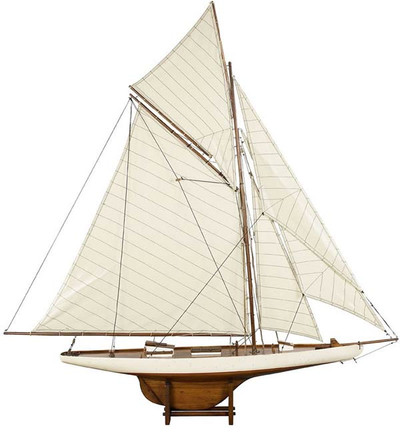 1901 America's Cup Columbia Medium Sailboat Model