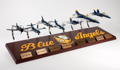 Blue Angels Collection Model Airplane Display