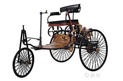 1886 Yellow & Black Benz Patent Motorwagen
