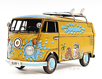 1967 Volkswagen Deluxe Bus with Surfboards