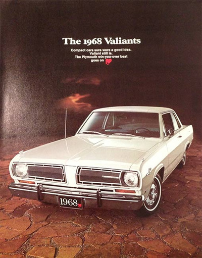 The 1968 Valiants 6-Page Color Car Brochure