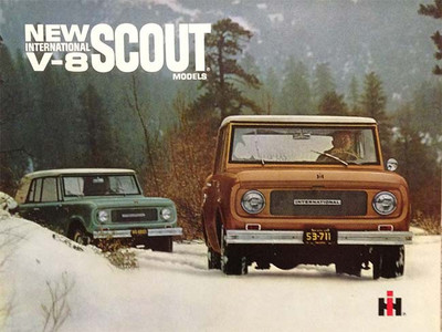 International Harvester V-8 Scout Models Brochure