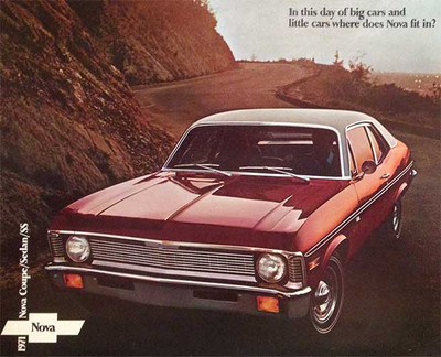 1971 Chevrolet Nova Coupe, Sedan, and SS Dealer Brochure
