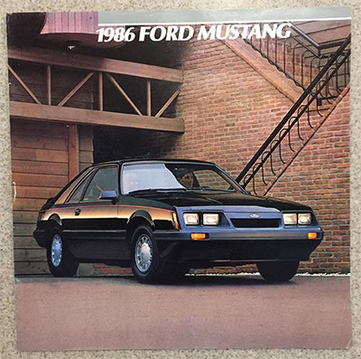 1986 Ford Mustang 23-Page Dealer Color Catalog