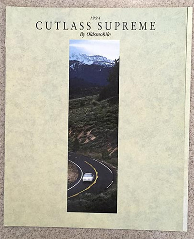 1994 Oldsmobile Cutlass Supreme Dealer Catalog