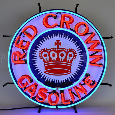 Neonetics Red Crown Gasoline Neon Sign