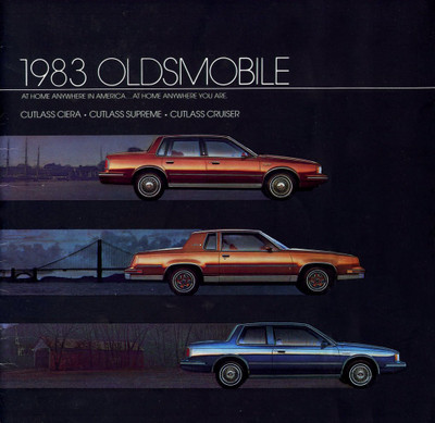 1983 Oldsmobile Cutlass Ciera, Supreme, Cruiser Original Brochure