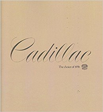 1976 Cadillac Full Line Original Dealer Brochure