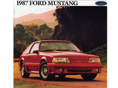 1987 Ford Mustang LX and GT Original Brochure