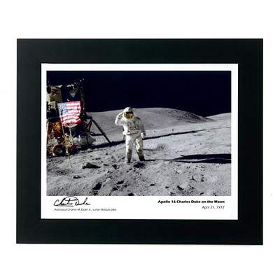 Apollo 16 Framed Photo Charles Duke Signed Edition