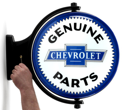 Chevrolet Genuine Parts Revolving Lighted Sign