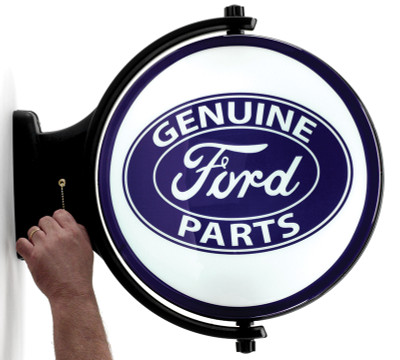Ford Genuine Parts Revolving Lighted Sign